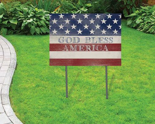 God Bless America Yard Sign | Yard Sign (24 x 18 inches) - GIFTCUSTOM