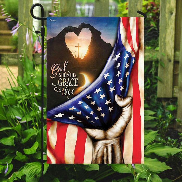 God Shed His Grace On Thee Flag - GIFTCUSTOM
