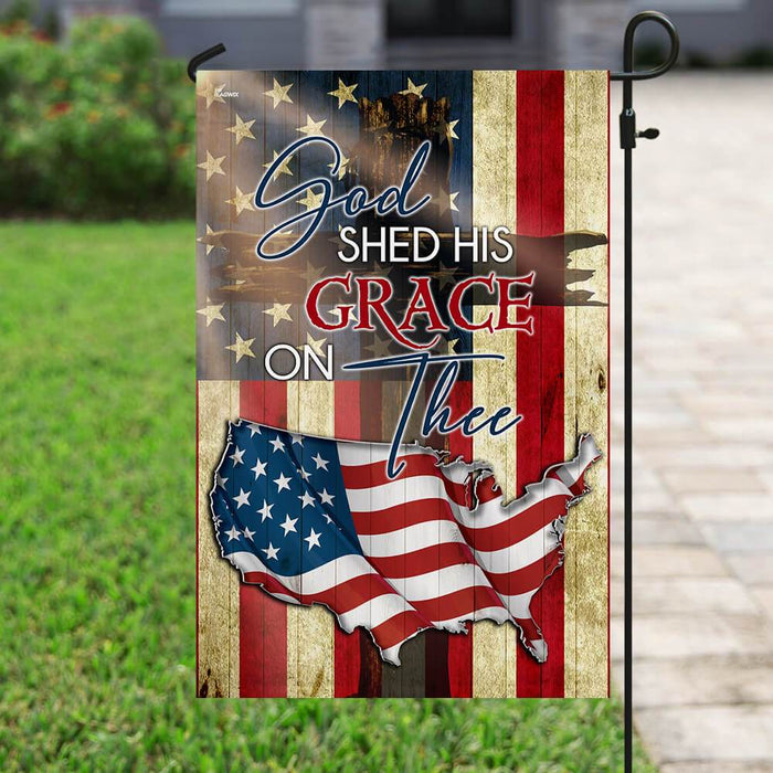 God Shed His Grace On Thee Flag | Garden Flag | Double Sided House Flag - GIFTCUSTOM