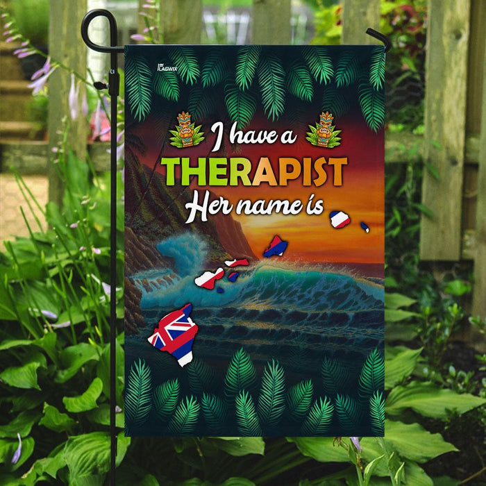 Hawaii Therapist Flag | Garden Flag | Double Sided House Flag - GIFTCUSTOM