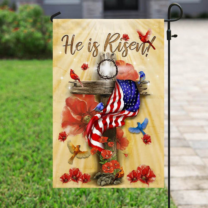 He Is Risen Jesus Flag - GIFTCUSTOM