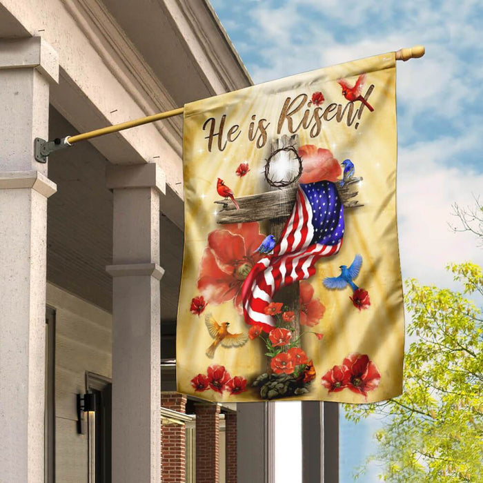 He Is Risen Jesus Flag | Garden Flag | Double Sided House Flag - GIFTCUSTOM