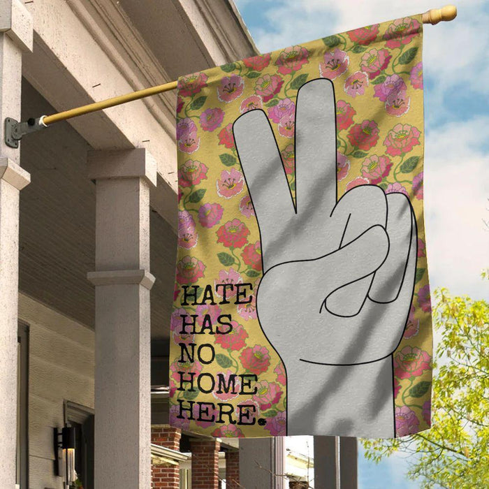 Hippie Flag Hate Has No Home Here Hippie Peace - GIFTCUSTOM