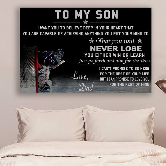 hockey Canvas and Poster ��� Dad to Son ��� never lose wall decor visual art - GIFTCUSTOM