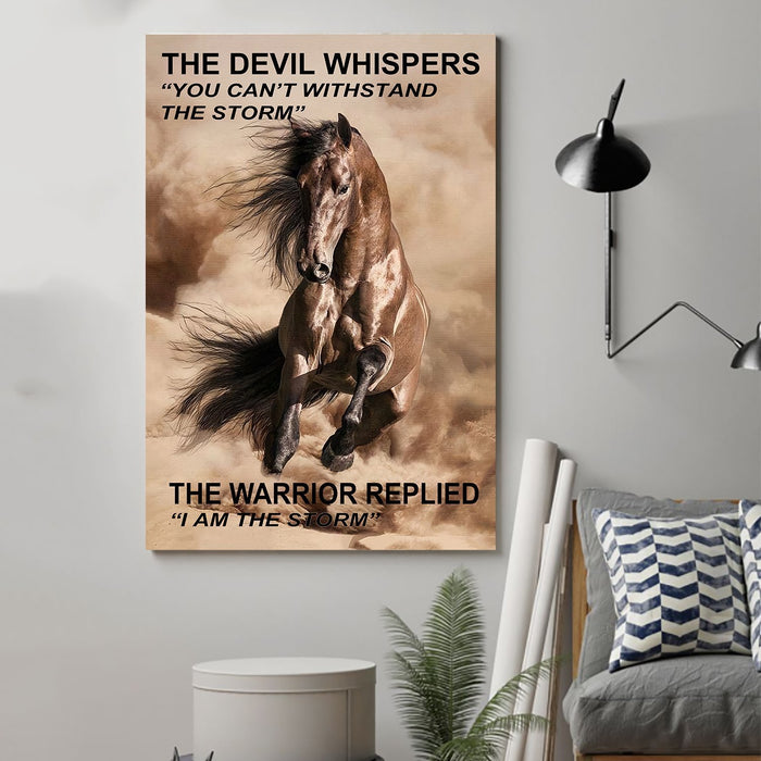 Horse Canvas and Poster ��� The devil whispers wall decor visual art - GIFTCUSTOM