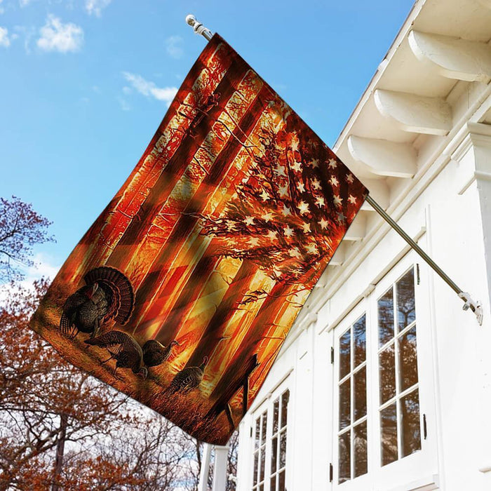 Hunting Flag Turkey Hunting Sunset - GIFTCUSTOM