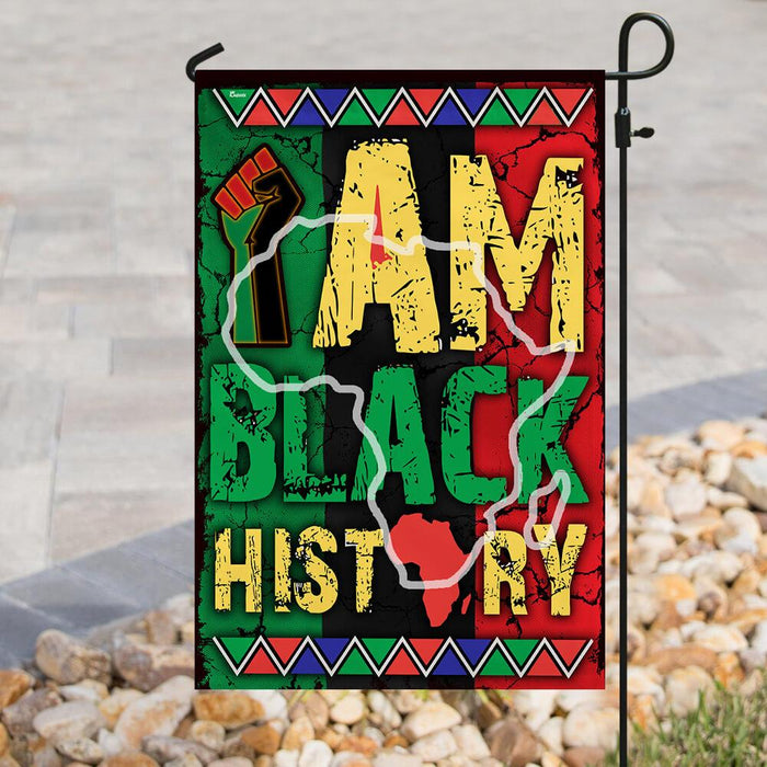 I Am Black History Flag | Garden Flag | Double Sided House Flag - GIFTCUSTOM