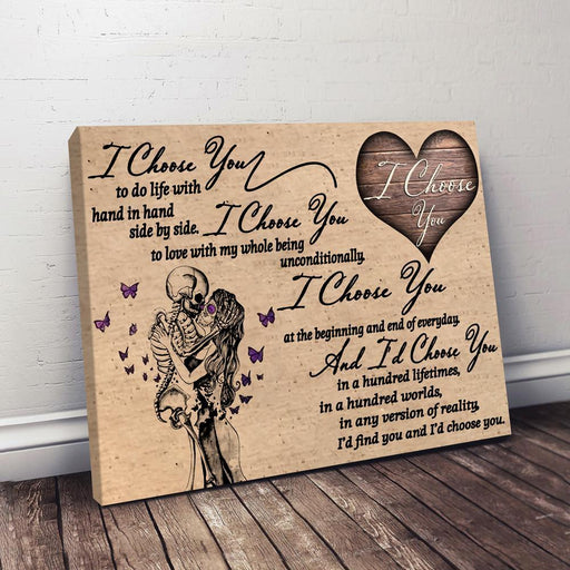 I Choose You Horizontal Canvas | Gift for wife, Gift for husband, Anniversary gift - GIFTCUSTOM