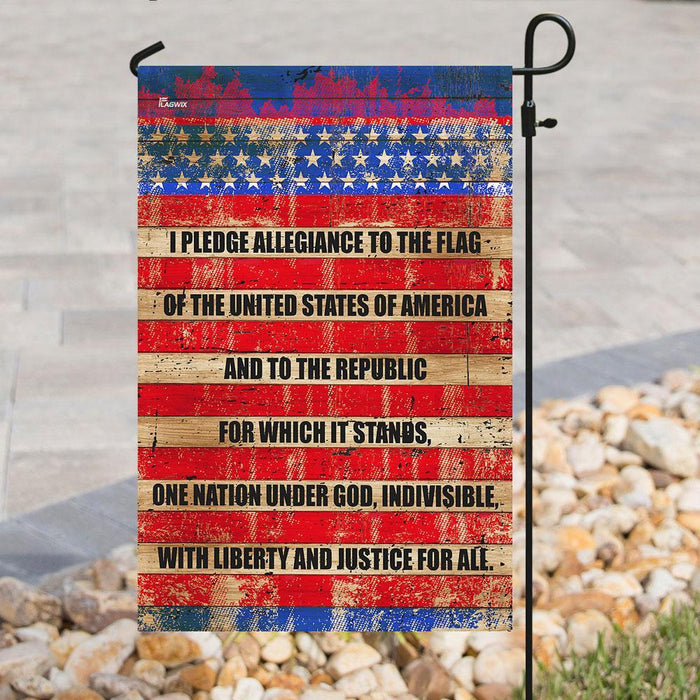 I Pledge Allegiance To The Flag Of The United States Of America Flag | Garden Flag | Double Sided House Flag - GIFTCUSTOM
