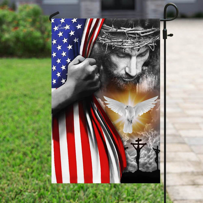 Jesus Christian Peace Flag | Garden Flag | Double Sided House Flag - GIFTCUSTOM