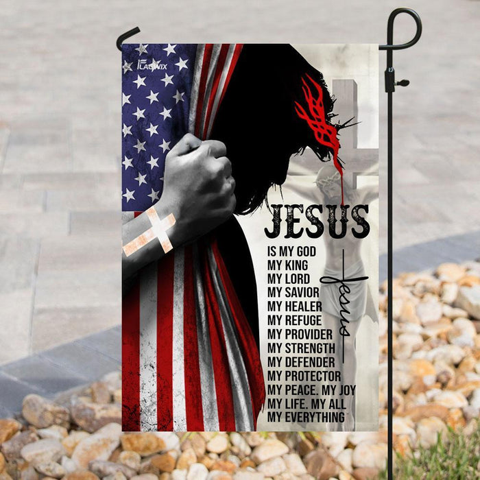 Jesus Is My Everything Christian Flag - GIFTCUSTOM