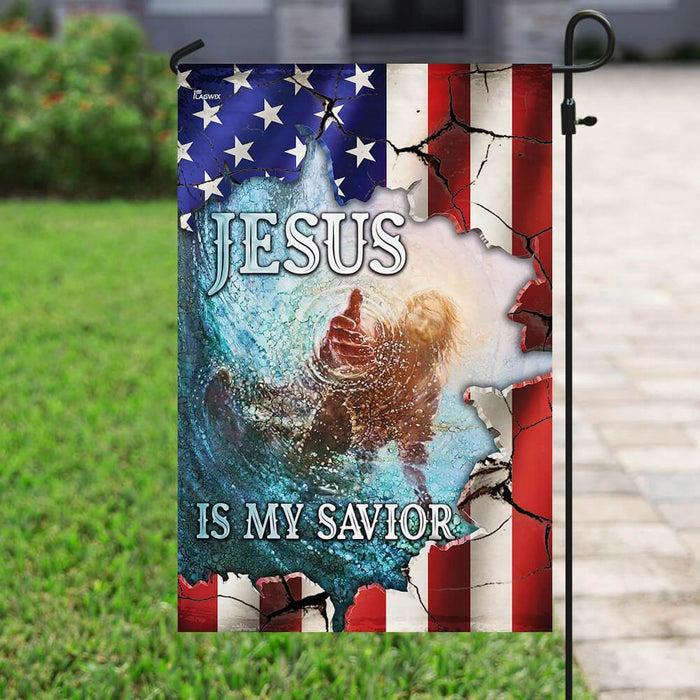 Jesus Is My Savior American US Flag | Garden Flag | Double Sided House Flag - GIFTCUSTOM