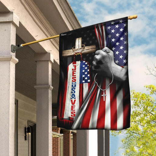 Jesus Saves Flag - GIFTCUSTOM