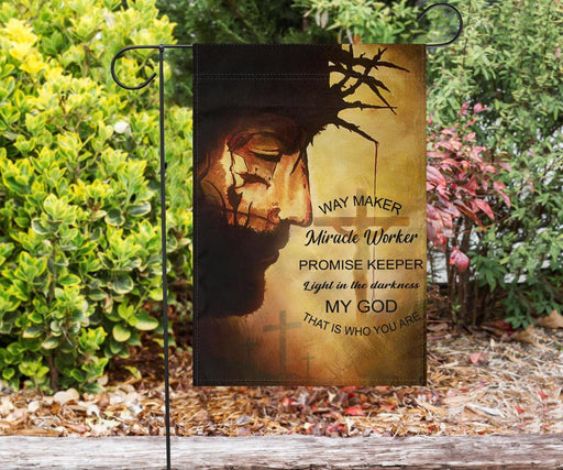 Jesus Way Maker Miracle My God | Garden Flag | Double Sided House Flag - GIFTCUSTOM