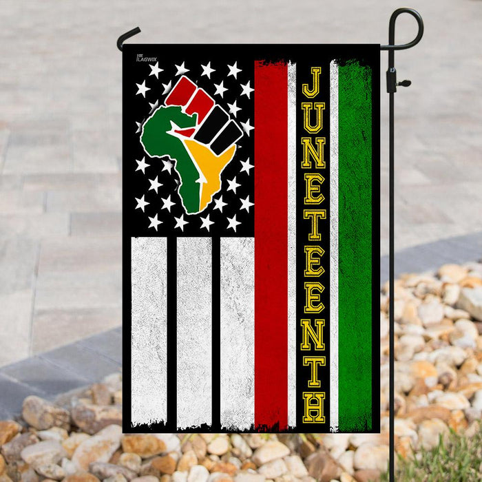 Juneteenth Flag | Garden Flag | Double Sided House Flag - GIFTCUSTOM