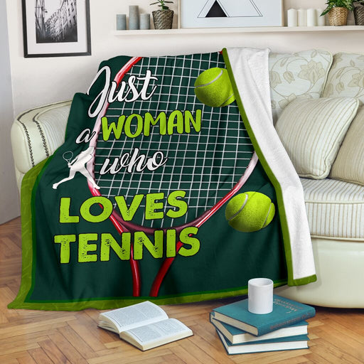 Just a woman who loves tennis blanket - GIFTCUSTOM