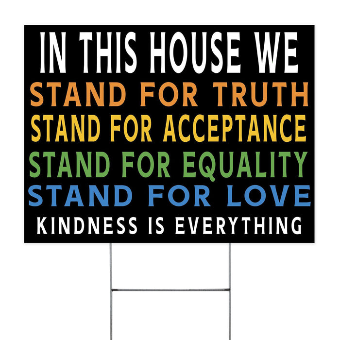 Kidness Is Everything Yard Sign (24 x 18 inches) - GIFTCUSTOM