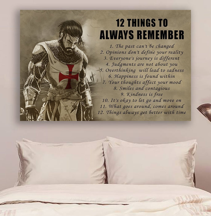 Knight templar Canvas and Poster ��� 12 Things to always remember wall decor visual art - GIFTCUSTOM