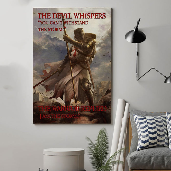 Knight templar Canvas and Poster ��� I am the storm wall decor visual art - GIFTCUSTOM