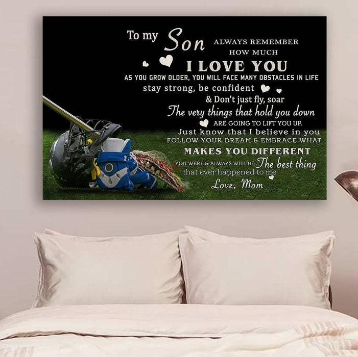 Lacrosse Canvas and Poster ��� mom to son ��� i love you wall decor visual art - GIFTCUSTOM