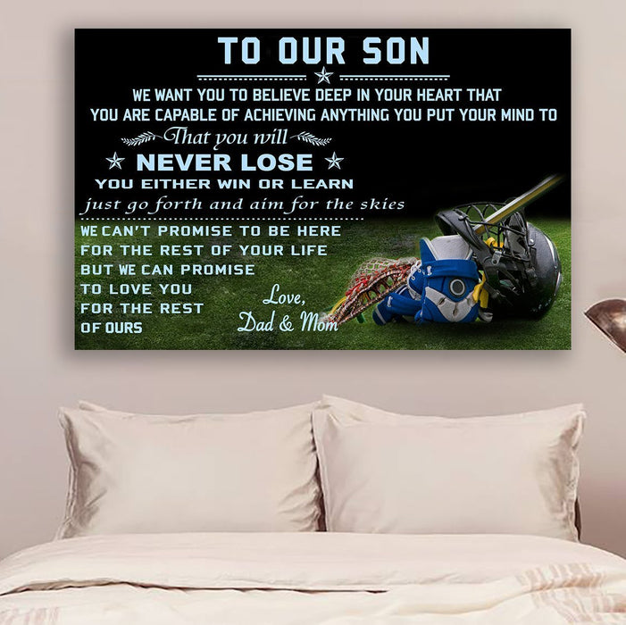 Lacrosse Canvas and Poster ��� to our son ��� never lose QH wall decor visual art - GIFTCUSTOM