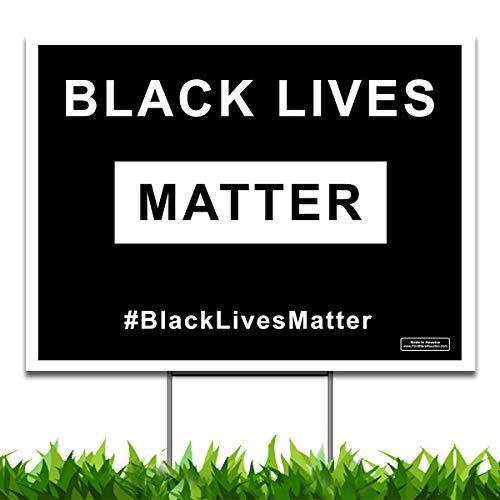 Large Black Lives Matter Yard Sign (24 x 18 inches) - GIFTCUSTOM