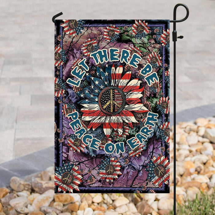 Let There Be Peace On Earth Hippie Flag | Garden Flag | Double Sided House Flag - GIFTCUSTOM