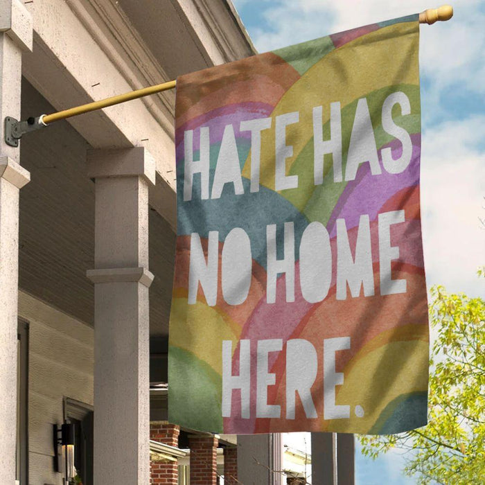 LGBT Flag Hate Has No Home Here Pride Month - GIFTCUSTOM