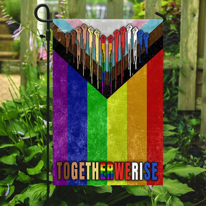 LGBT Progress Pride Flag | Garden Flag | Double Sided House Flag - GIFTCUSTOM
