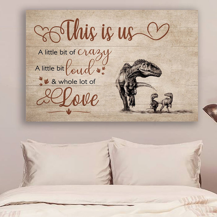 LH dinosaur Canvas and Poster ��� this is us wall decor visual art - GIFTCUSTOM