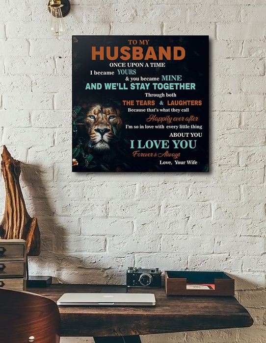 Lion Canvas and Poster ��� Wife to husband ��� I love you wall decor visual art - GIFTCUSTOM