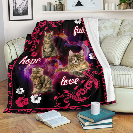 Maine coons faith hope love blanket - GIFTCUSTOM