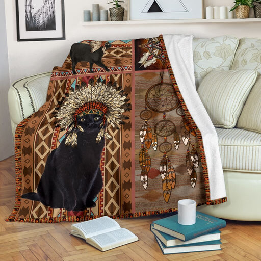 Mt 6 Native American Style Cat Blanket - GIFTCUSTOM