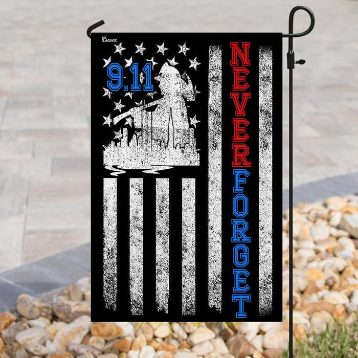 Never Forget 911 American US Flag | Garden Flag | Double Sided House Flag - GIFTCUSTOM
