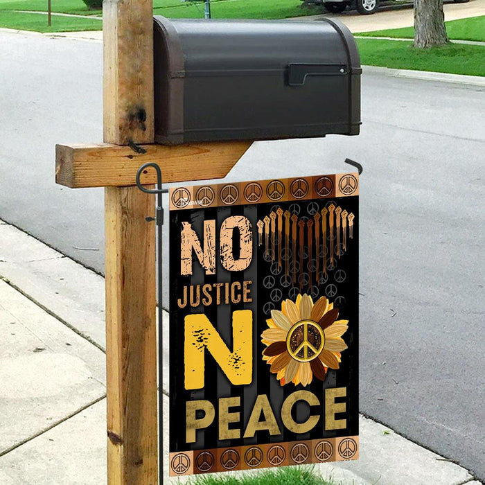 No Justice No Peace Flag | Garden Flag | Double Sided House Flag - GIFTCUSTOM