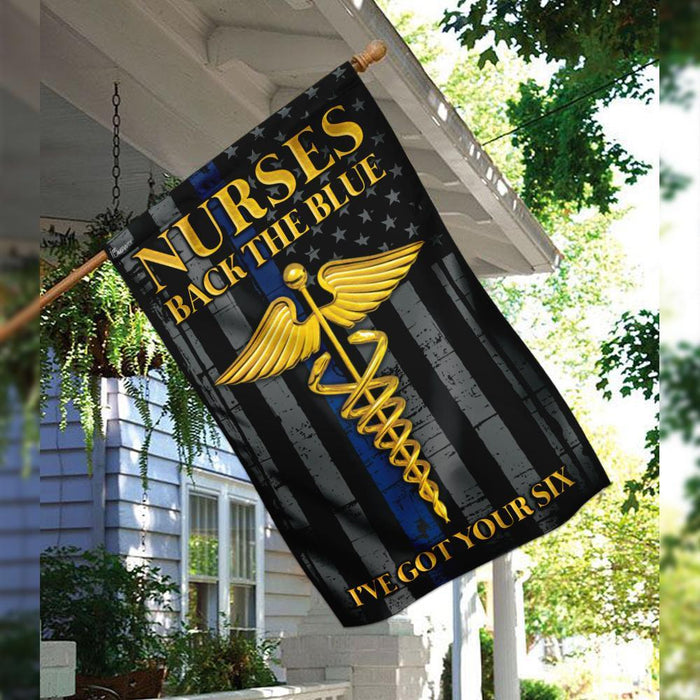Nurses Back The Blue Flag | Garden Flag | Double Sided House Flag - GIFTCUSTOM