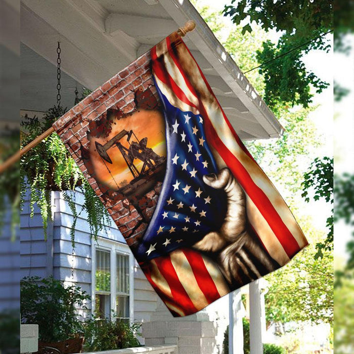 Oilfield Flag | Garden Flag | Double Sided House Flag - GIFTCUSTOM