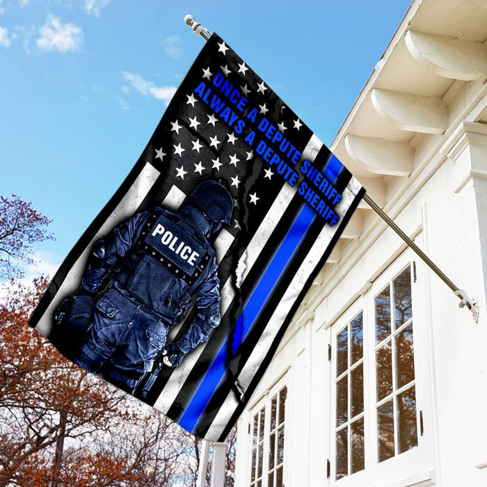 Once A Depute Sheriff, Always A Depute Sheriff Flag | Garden Flag | Double Sided House Flag - GIFTCUSTOM