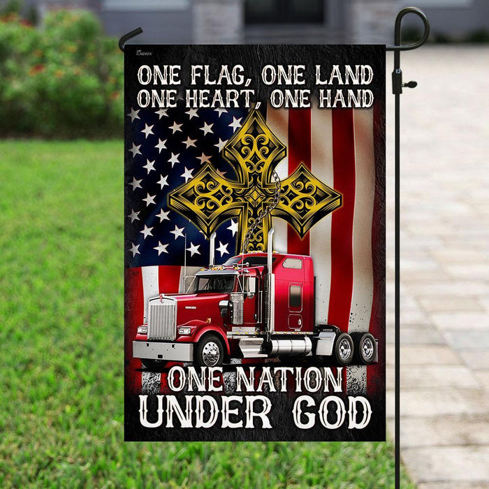 One Flag One Land ��� Truck Flag | Garden Flag | Double Sided House Flag - GIFTCUSTOM