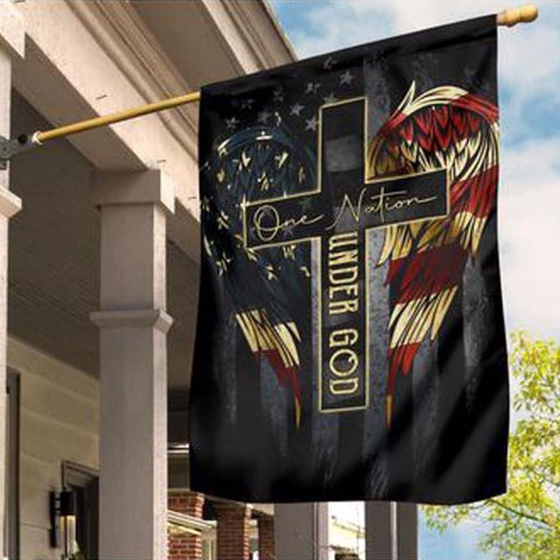 One Nation Under God America Wings Flag - GIFTCUSTOM