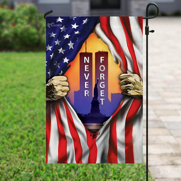 Patriot Day. 911 Never Forget American Flag | Garden Flag | Double Sided House Flag - GIFTCUSTOM