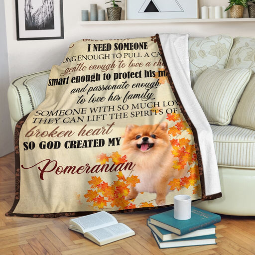 Pomeranian Protect His Master Blanket - GIFTCUSTOM