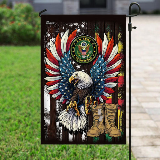 Proud Vietnam Veteran Flag | Garden Flag | Double Sided House Flag - GIFTCUSTOM