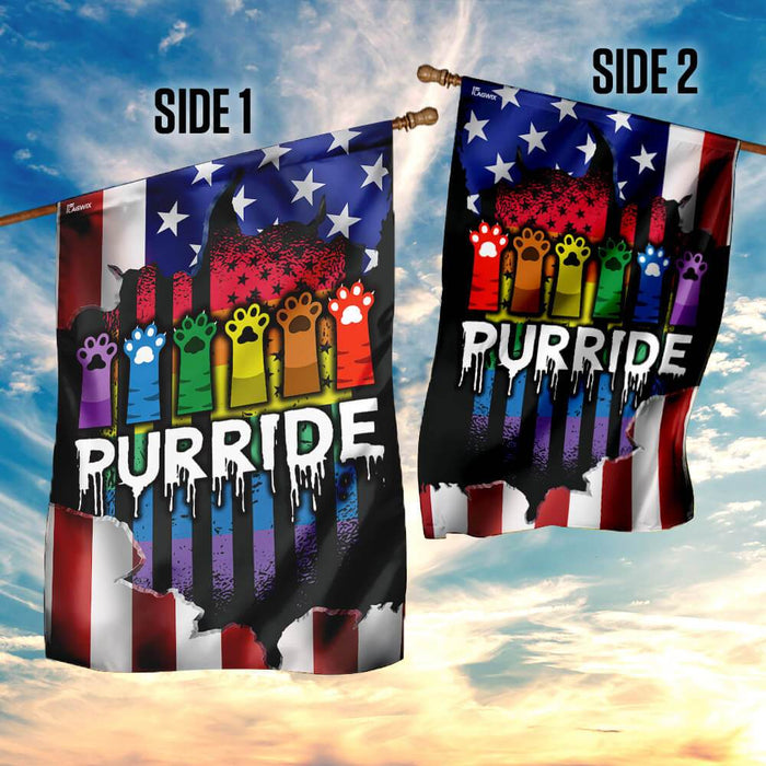Purride American US Flag | Garden Flag | Double Sided House Flag - GIFTCUSTOM
