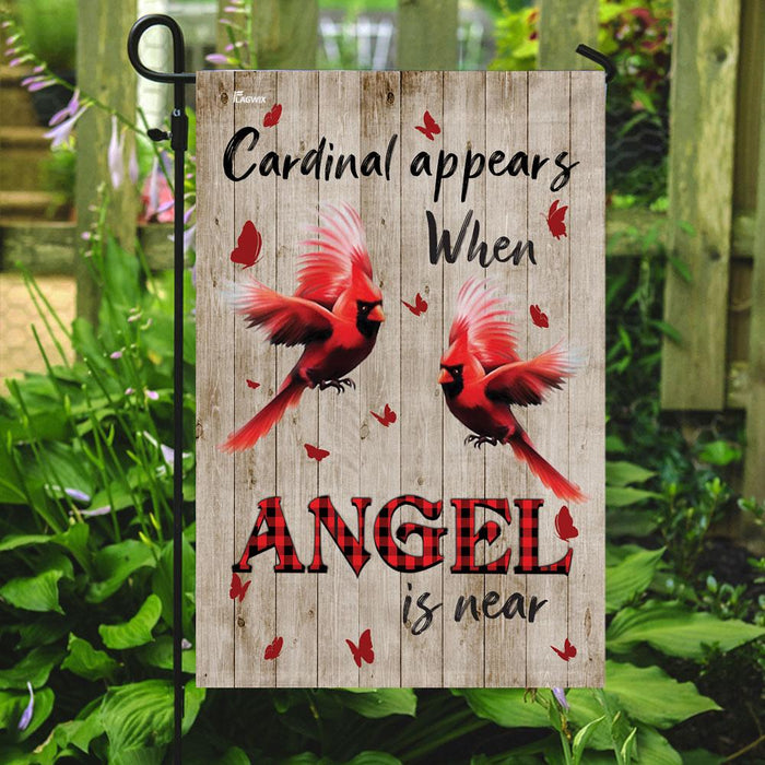 Red Cardinal Flag | Garden Flag | Double Sided House Flag - GIFTCUSTOM