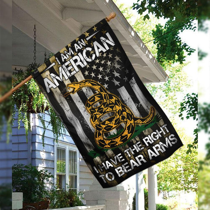 Right To Bear Arms Flag | Garden Flag | Double Sided House Flag - GIFTCUSTOM