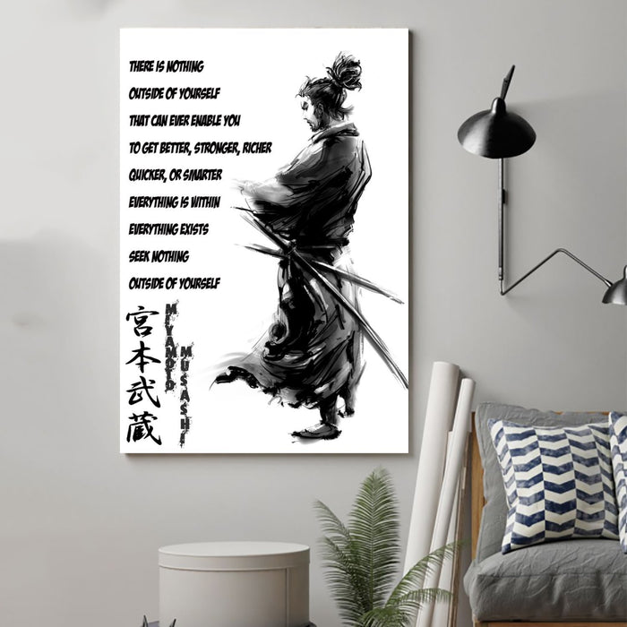 samurai Canvas and Poster ��� outside of yourself wall decor visual art - GIFTCUSTOM