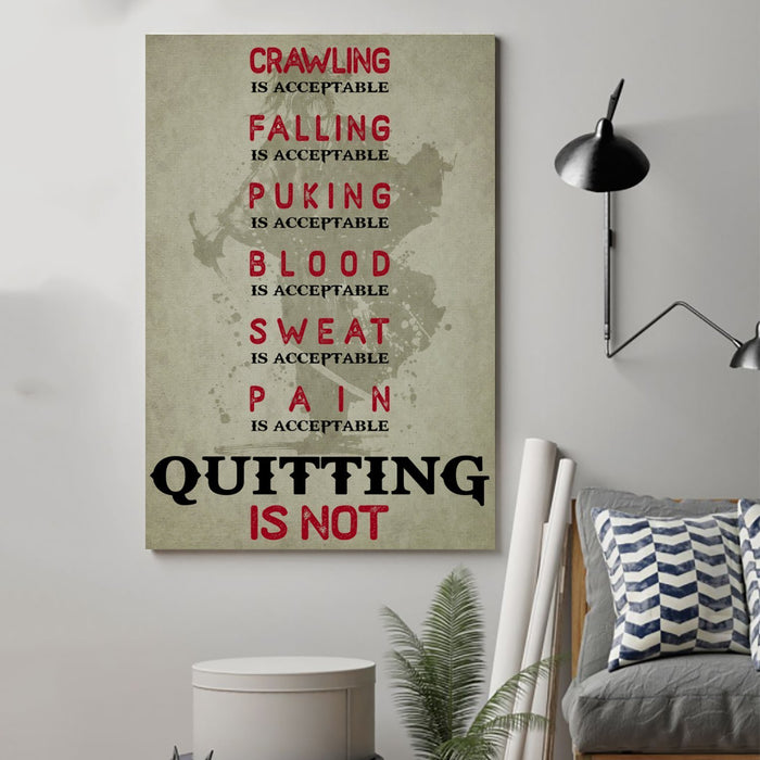 samurai Canvas and Poster ��� quitting is not wall decor visual art - GIFTCUSTOM