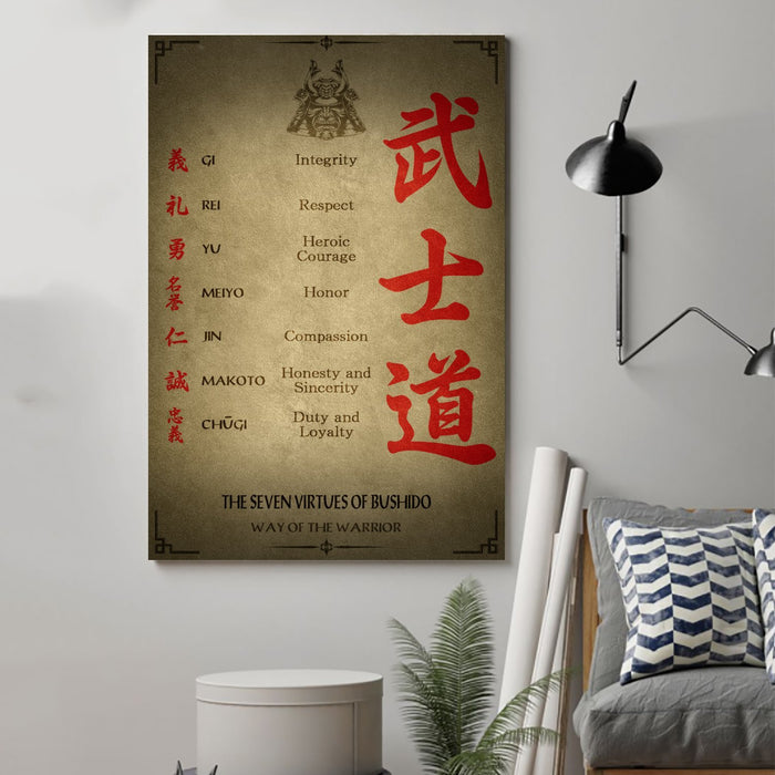 Samurai Canvas and Poster ��� Seven Virtues wall decor visual art - GIFTCUSTOM