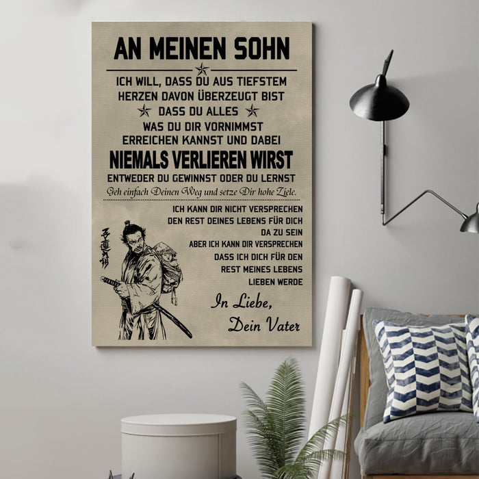 Samurai Canvas and Poster ��� To my Daughter ( Germany wall decor visual art - GIFTCUSTOM